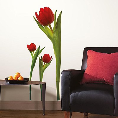 TULIPS PEEL & STICK WALL DECALS