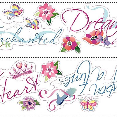 DISNEY PRINCESS - PRINCESS QUOTES PEEL & STICK WALL DECAL