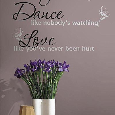 DANCE, SING, LOVE PEEL & STICK WALL DECALS
