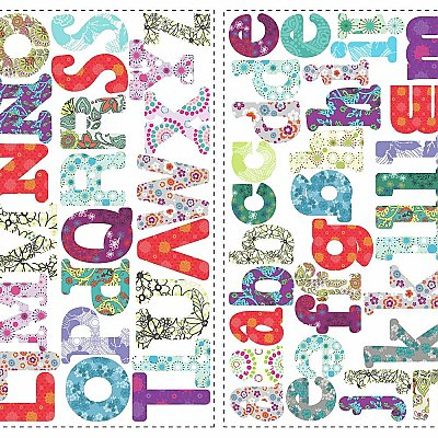 BOHO ALPHABET PEEL & STICK WALL DECALS