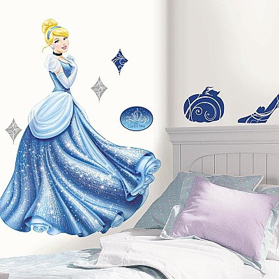 DISNEY PRINCESS - CINDERELLA GLAMOUR PEEL & STICK GIANT WALL DECAL