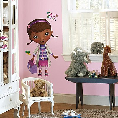 DOC MCSTUFFINS PEEL & STICK GIANT WALL DECALS