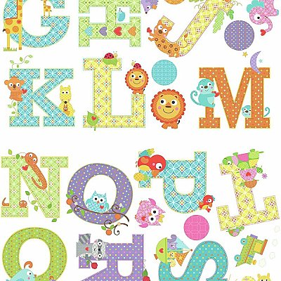 ANIMAL ALPHABET DENA DESIGNS PEEL AND STICK WALL DECALS