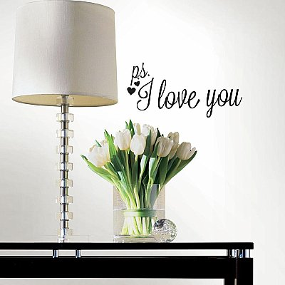 PS I LOVE YOU PEEL AND STICK WALL DECALS