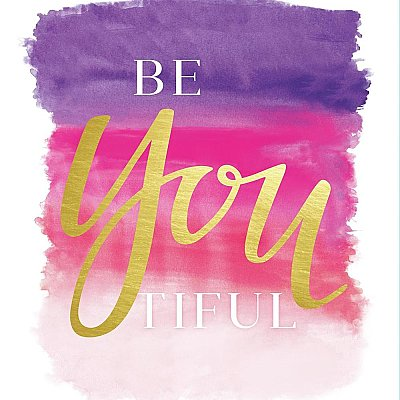 BE-YOU-TIFUL QUOTE PEEL AND STICK GIANT WALL DECALS