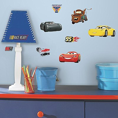 CARS 3 PEEL AND STICK WALL DECALS