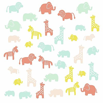 ANIMAL SILHOUETTE PEEL AND STICK WALL DECALS