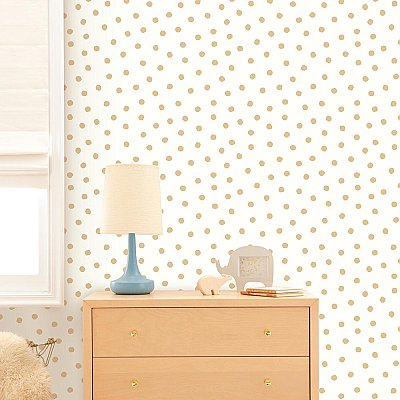GOLD DOT PEEL & STICK WALLPAPER