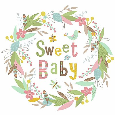 SWEET BABY GIANT PEEL AND STICK WALL DECALS