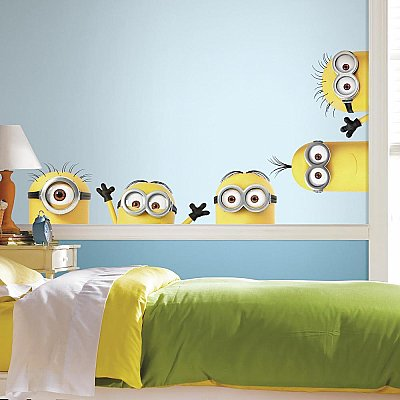 DESPICABLE ME 3 PEEKING MINIONS GIANT PEEL AND STICK WALL DECALS