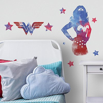 WONDER WOMAN WATERCOLOR PEEL AND STICK GIANT WALL DECALS