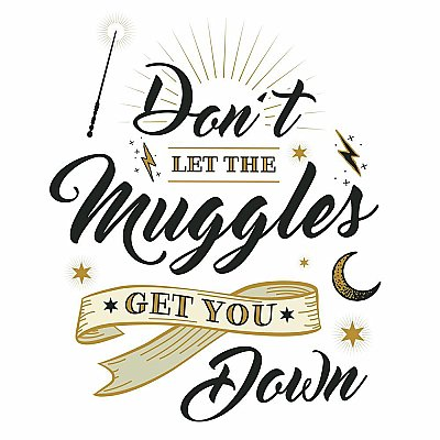 HARRY POTTER MUGGLES QUOTE PEEL AND STICK GIANT WALL DECALS
