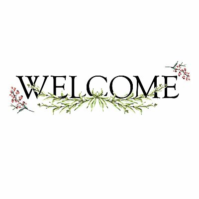 WELCOME QUOTE PEEL AND STICK WALL DECALS