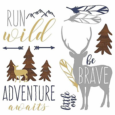 ADVENTURE AWAITS ANIMAL PEEL AND STICK WALL DECALS