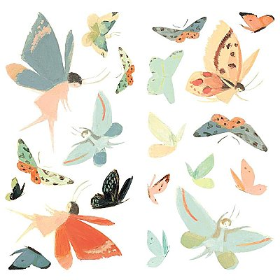 DREAM WORLD BUTTERFLY PEEL AND STICK WALL DECALS