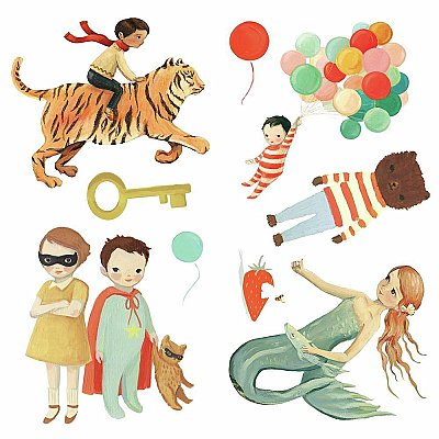 DREAM WORLD CHARACTERS PEEL AND STICK WALL DECALS