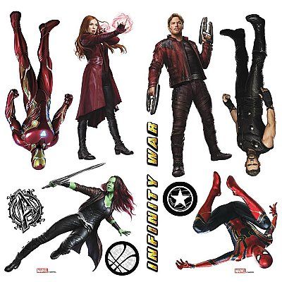 AVENGERS INFINITY WAR CHARACTERS PEEL AND STICK WALL DECALS