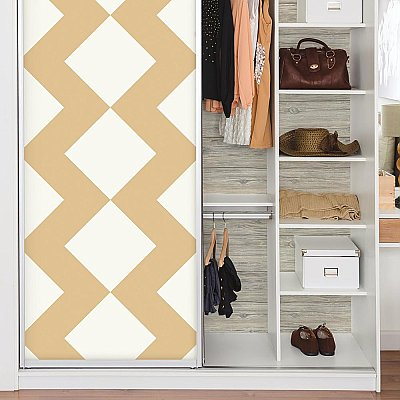 LARGE CHEVRON TAN PEEL & STICK WALLPAPER