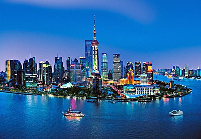 Shanghai Skyline Wall Mural DM135 Hot Deal