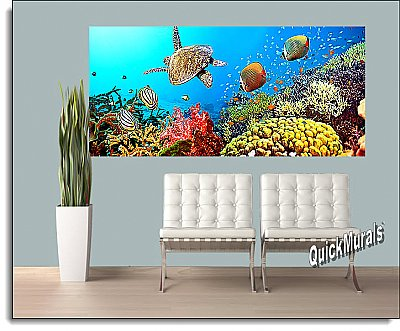 Under The Sea One-piece Peel & Stick Canvas Wall Mural