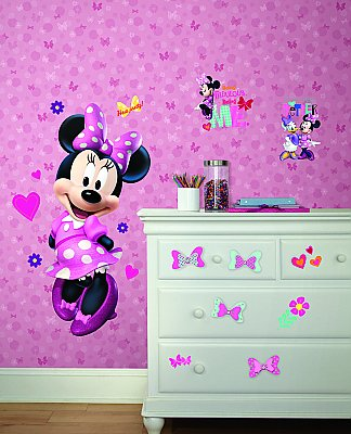 Disney Junior Minnie Bow-Tique Giant Peel And Stick Wall Decal