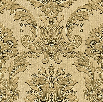 Dis Marco Polo Taupe Damask Wallpaper