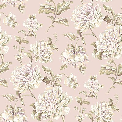 Arlington Painterly Floral Wallpaper
