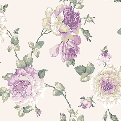 Arlington Lg Rose Vine Wallpaper