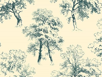 Ashford Toiles Deciduous Wallpaper
