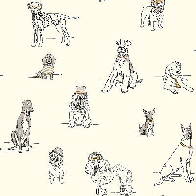 Ashford Toiles Dog's Life Wallpaper