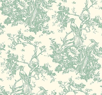 Ashford Toiles Exotic Plumes Wallpaper