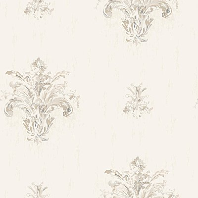 Painterly Damask Spot Wallpaper