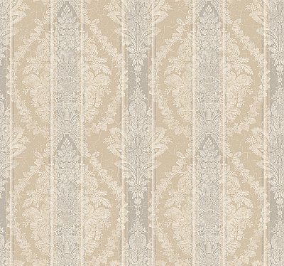 Charleston Stripe Damask Wallpaper