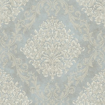 Framed Damask Wallpaper