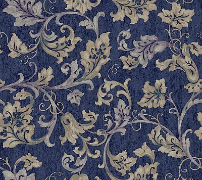 Acanthus Leaf Trail Wallpaper