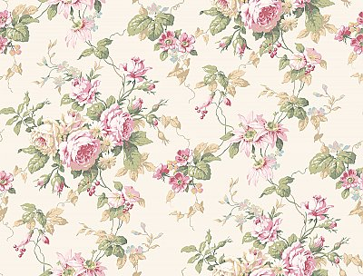 Rose Floral Trail Wallpaper