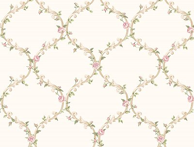 Elegant Rose Trellis Wallpaper