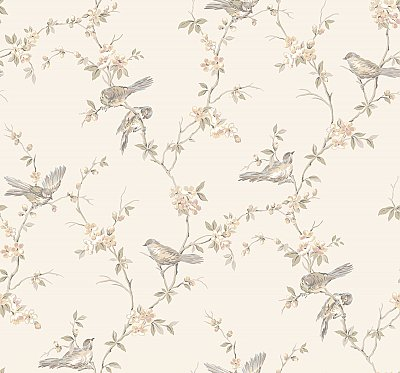 Floral Branches W/Bi Wallpaper