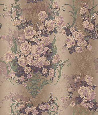 Bouquet Damask Wallpaper