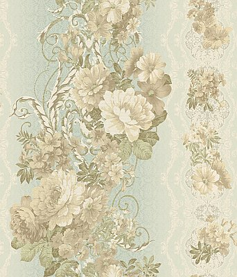 Floral Stripe Wallpaper