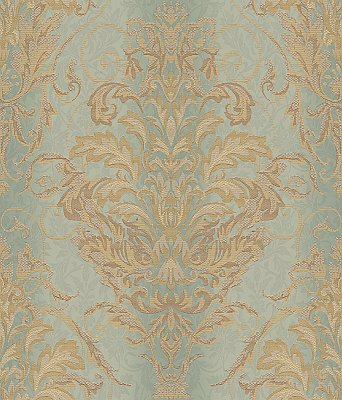 Ombre Damask Stripe Wallpaper