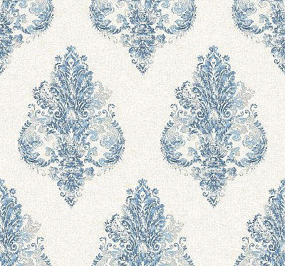 Faded Damask Wallpaper