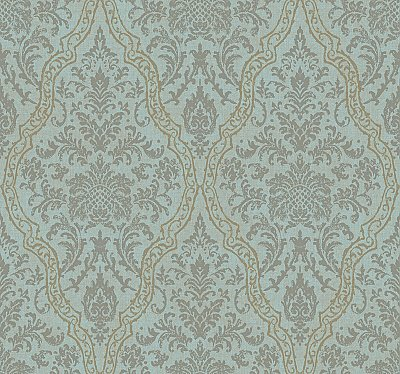 Mirror Damask Wallpaper