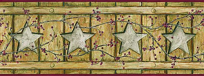 Country Cutout Star Border