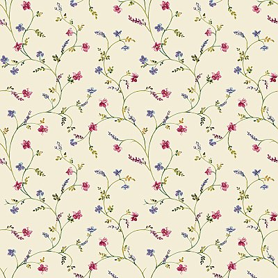 Country Floral Trail Wallpaper