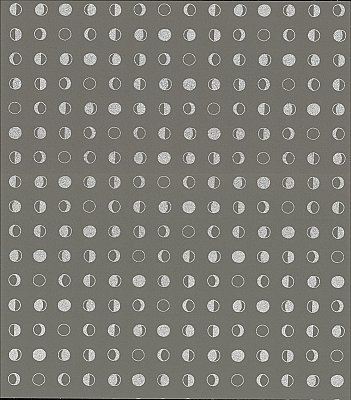Lunar Wallpaper - Taupe/Silver