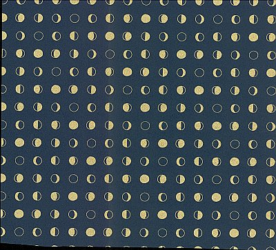 Lunar Wallpaper - Navy/Gold