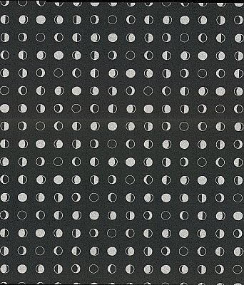 Lunar Wallpaper - Black/Silver