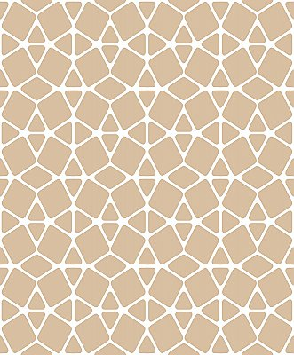 Facet Wallpaper - White/Gold