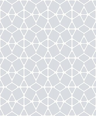 Facet Wallpaper - White/Silver